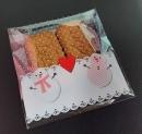 V352聖誕節OPP自黏糖果袋「愛心雪人」