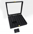 T130 微風35格絨布玻璃蓋-珠寶展飾盒-(售完為止)