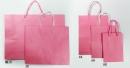 W38 手提紙袋「粉紅素牛皮紙袋」