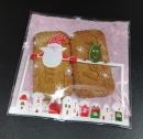 V349 聖誕節OPP自黏糖果袋「白色聖誕夜10x10cm」