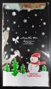 U110聖誕節OPP立體糖果袋「雪人」