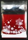 V233 聖誕節OPP自黏糖果袋「雪花紛飛」