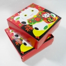 X14 春節餅乾盒-招財貓食品方形紙盒