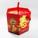 X381 年節提盒-舞動春宴六角提盒