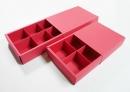 X108 素色紙盒-紅色抽屜盒