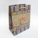 M115 棉把紙袋-秘密花園小熊