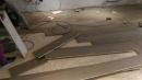 煙燻橡木自然漆面 施工現場1