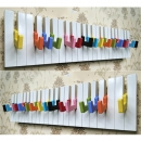 EC065 彩色鍵盤掛鉤 木質烤漆掛勾 童趣童話掛勾 彩虹色掛鉤