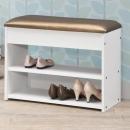 -北歐風格-軟墊座式鞋架~