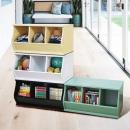 (3格)DIY質感斜取式造型收納櫃/可堆疊收納櫃/格櫃/斜櫃/置物櫃/置物盒~ #樂創木工#