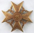 [已售出 SOLD] 銅級 無寶劍西班牙十字獎章 - C.E. Juncker