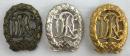 [已售出 SOLD] 二戰德國 DRL體育章 銅,銀,金一套