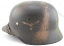 [已售出 SOLD] 二戰德軍,空軍 M40諾曼第迷彩頭盔!