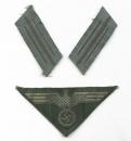 二戰德國陸軍,M44型胸鷹+罕見最末期型領章一組