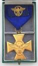 盒裝警察服役25年年資獎章,黃銅鍍金