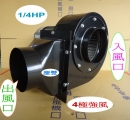 1/4HP 6英吋【4極強風】多翼式送風機【全密銑殼馬達】慶豐牌 CF-1904P