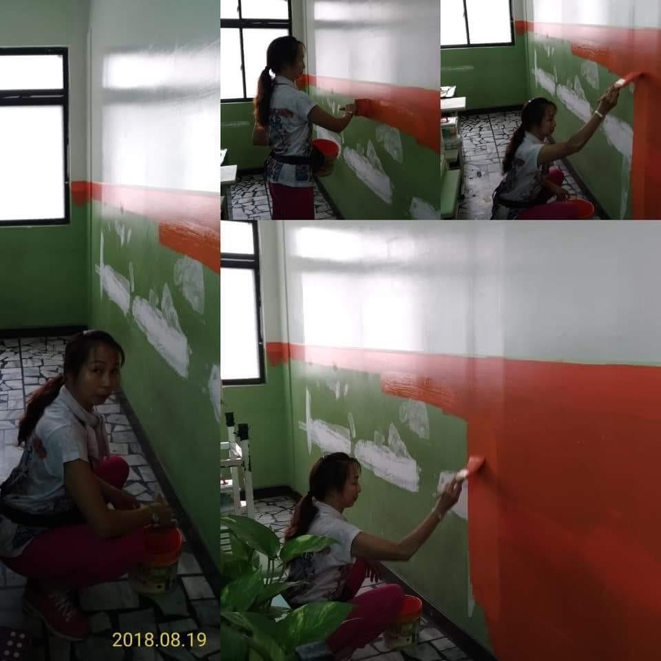 台北補習班牆面修補油漆粉刷 (14)