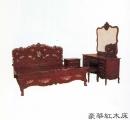 豪華紅木床