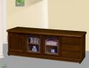106(5010)6尺胡桃木實木矮櫃