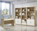 106(5100)原切橡木白書桌書櫥-1