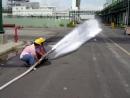 移動式泡沫消防栓放射