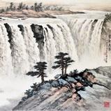 「黃君璧」雲壑飛瀑!(圖)-黃君璧書畫欣賞