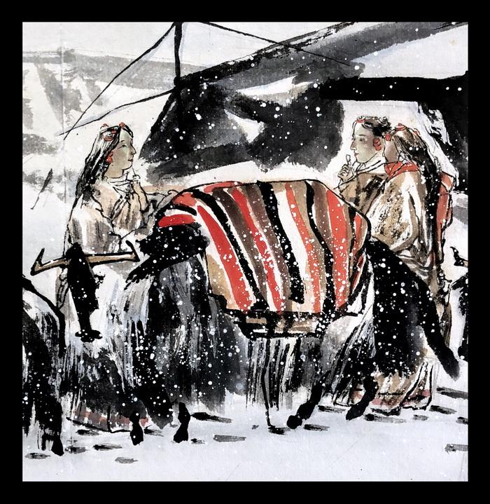 書畫欣賞-杜滋齡(圖)-白色世界-乙亥年冬月青藏高原晨雪之意境-滋齡 (2).jpg