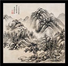 書畫欣賞,清代畫家,王撰,山水作品賞析_書畫藝搜![清]_王撰(1623年~1709年),字異公,號