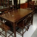 紅木原木餐桌