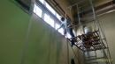 廠房內部挑高窗戶擦拭清潔