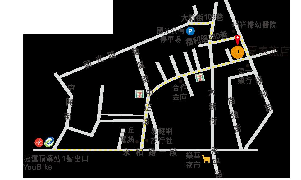 新北市永和嘉家旅店地圖