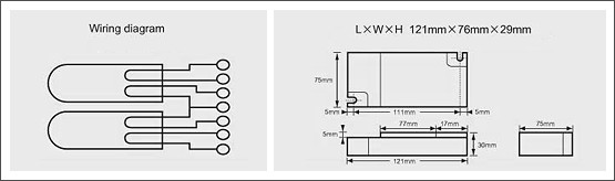 預熱啟動型電子安定器(四方型)-PLT系列02Preheated activation type e