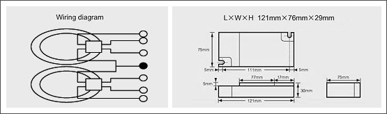 預熱啟動型電子安定器(四方型)-TL5C系列02Preheated activation type