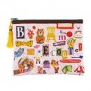 日本ECOUTE!绗縫系列流蘇拉鍊錢包袋B017C0157S4543092