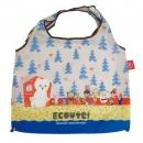 日本ECOUTE!可收納大型環保購物袋(北極熊)B017C0166S5362307