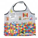 日本ECOUTE!大容量折疊購物袋(多色圓點)B017C0177S4595715