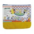 日本ECOUTE!燈芯絨拉鍊錢包(黃)B017C0190S5097771