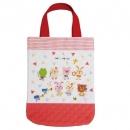 日本Rub a dub dub純棉手提袋(紅)B017C0203S5259602