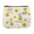 日本ECOUTE!刺繡拉鍊小錢包(綠色圓點)B017C0206S4879889