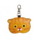 日本ECOUTE!貓咪鑰匙圈皮革小錢包B017C0210S5660925