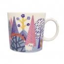 日本ECOUTE!藍色森林陶瓷杯B017C0228S5571698