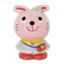 日本Rub a dub dub兔兔存錢筒(粉紅)B017C0262S4996703