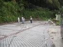 停車場植草磚施工