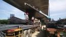 交流道鋼筋吊運作業工程