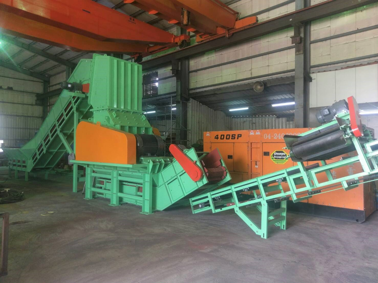 Plastic (contains iron) recycling line - DIYO MACHINERY IND ,LTD