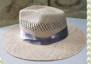 手工藺草日式紳士帽