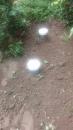 污水處理槽污泥抽除(化糞池), 因此案例是處理槽上面長年被土壤覆蓋,經探測確定後,移開覆土才得以施工