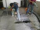 公寓化糞池滲漏開挖處理及臨時化糞池配置