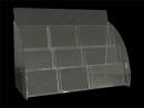 VA-A-DM-377 透明三層九格壓克力明信片盒 全部需燒光R角