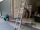 台中鐵捲門維修, 台中鐵門修理,白鐵門維修,白鐵捲門片更換安裝